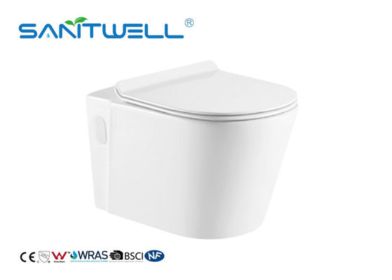 Wall Washdown Keramik Dipasang Struktur Wc / Dual Flush Toilet One Piece